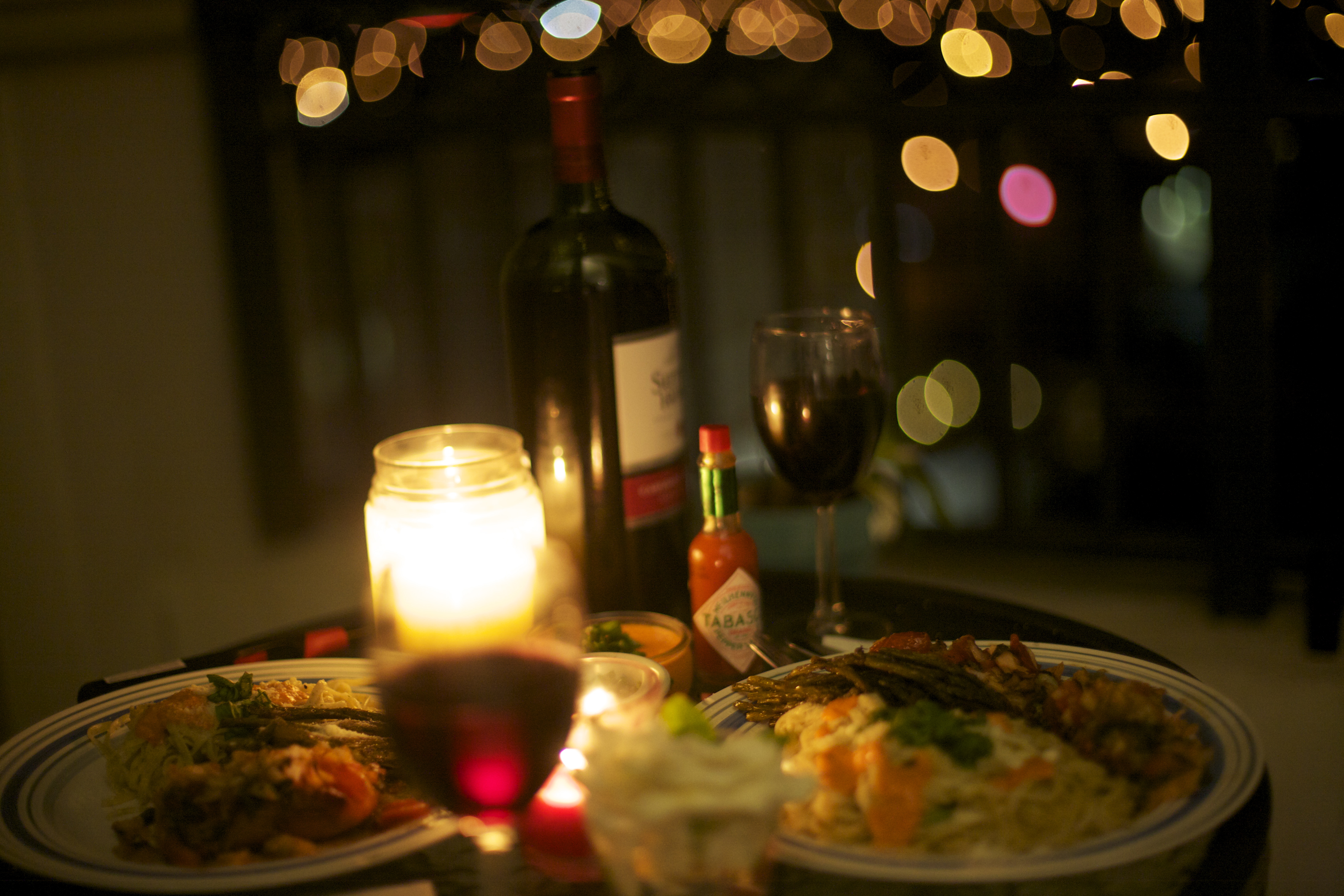 Romantic Dinner At Home - HD Photos Gallery